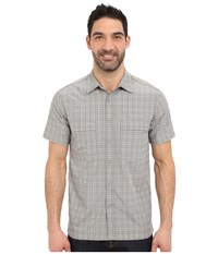 Royal Robbins Diablo Plaid Short Sleeve Shirt Light Pewter Men's Short Sleeve Button Up Silver