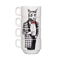 Jimbobart Mr Fox Stacking Coffee Cups