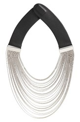 Fairchild Baldwin Women's Chain Collar Necklace Silver