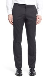 Ballin Men's Big And Tall Regular Fit Flat Front Trousers Charcoal