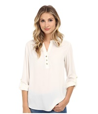 Brigitte Bailey Karen Blouse Ivory Women's Blouse White