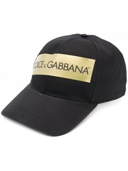 Dolce And Gabbana Logo Baseball Cap Black