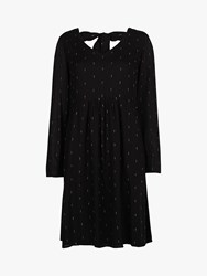Fat Face Cilla Lurex Dress Black