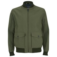 Knutsford Men's 'Made In England' Cotton Zip Through Bomber Jacket Lovat Khaki Green
