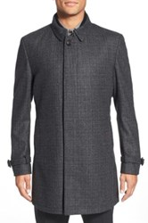 Ted Baker 'Alabama' Wool Overcoat Black