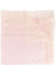 Ermanno Scervino Lace Detail Scarf Pink Purple