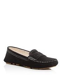 Sam Edelman Filly Suede Penny Loafers Black
