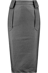 Vivienne Westwood Fall Coated Stretch Jersey Pencil Skirt Gray