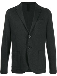 Harris Wharf London Fitted Single Breasted Blazer Grey