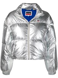 Levi's Short Puffer Jacket Silver