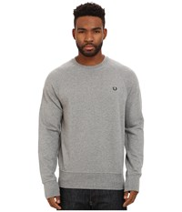 Fred Perry Loopback Crew Sweater Steel Marl Men's Sweater Gray