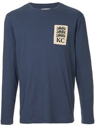 Kent And Curwen Three Lions Rugby Sweatshirt Blue