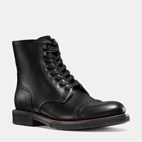 Coach Bleecker Cap Toe Boot Black