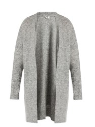 Acne Studios Raya Short Oversized Cardigan Grey