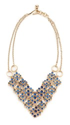 Lulu Frost Energy Necklace Gold Blue