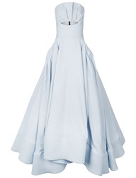 Maticevski Powder Blue Ascertain Gown Light Blue