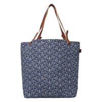 White Stuff Butterfly Canvas Tote Bag Bejing Blue