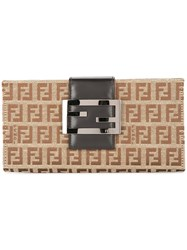 Fendi Vintage Wallet Purse Brown