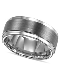Triton Men's Ring Tungsten Carbide Comfort Fit Wedding Band 9Mm Band Size 8 15