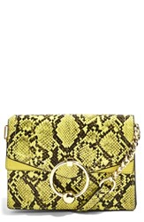 Topshop Selina Snake Effect Crossbody Bag Yellow Yellow Multi