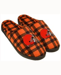 Forever Collectibles Cleveland Browns Flannel Slide Slippers Orange