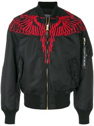 Marcelo Burlon County Of Milan Embroidered Wing Bomber Ajcket Black