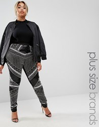 Lovedrobe Luxe Embellished Legging Black