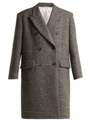 Calvin Klein 205W39nyc Oversized Double Breasted Wool Blend Coat Grey