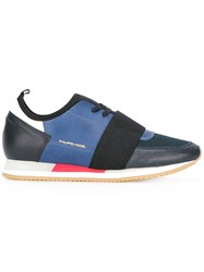 Philippe Model Elastic Detail Lace Up Sneakers Blue