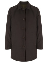 Dockers Reversible Trench Coat Heather Olive Brown