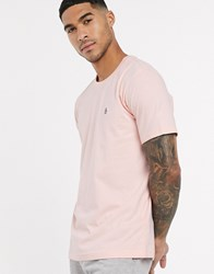 Original Penguin Pin Point Embroidered Logo T Shirt In Pink