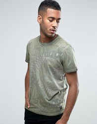 Jack And Jones Vintage T Shirt With All Over Print Olive Night Green