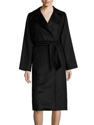 Max Mara Manuela Camel Hair Wrap Coat Black