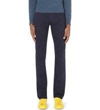 Stone Island Slim Fit Tapered Cotton Sheen Jeans Royal