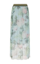 Antonio Marras Pleated High Waist Maxi Skirt Light Blue