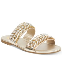 G By Guess Luxeen Flat Sandals Women's Shoes Gold