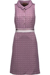 Missoni Crochet Knit Dress Lavender