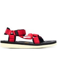 Suicoke Strapped Open Toe Sandals Red