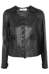 Valentino Leather Jacket Black