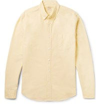 J.Crew Slim Fit Button Down Collar Cotton Oxford Shirt Yellow