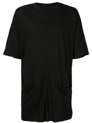 The Viridi Anne Front Pocket T Shirt Black