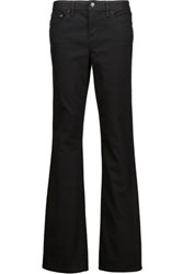 Tory Burch Classic Mid Rise Bootcut Jeans Black