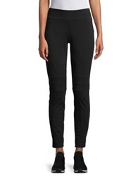 Ivanka Trump Moto Leggings Black