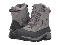 Columbia Bugaboot Ii Light Grey Dark Raspberry Women's Boots Gray