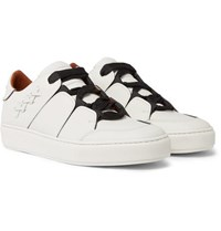 Ermenegildo Zegna Tiziano Panelled Leather Sneakers White