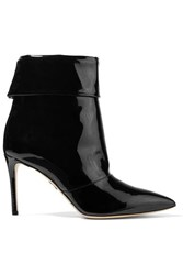 Paul Andrew Banner Patent Leather Ankle Boots Black