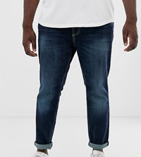 Tom Tailor Plus Slim Fit Jeans In Stone Wash Blue