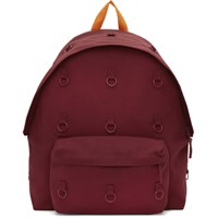 Raf Simons Burgundy And Orange Eastpak Edition Padded Loop Backpack