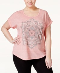 Styleandco. Style And Co. Plus Size Graphic T Shirt Only At Macy's Peach Zing