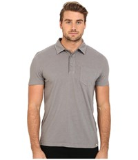 Ag Adriano Goldschmied Cliff Polo Flint Grey Men's Short Sleeve Knit Multi